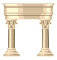 Corinthian realistic antique greek temple with vector image vector image