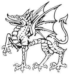 heraldic dragon No5 vector image vector image