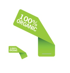 sticker organic green vector image vector image