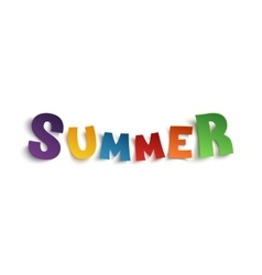 Summer hand drawn typeface isolated on white vector image