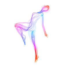 abstract dancer woman silhouette over white vector image