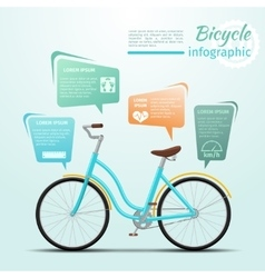 Bicycle or bike related fitness and sports vector image vector image