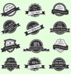 Black Premium Quality labels vector image