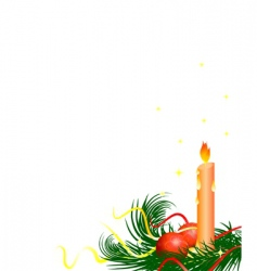 Christmas tree candle vector image