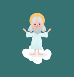god character standing with hands up vector image