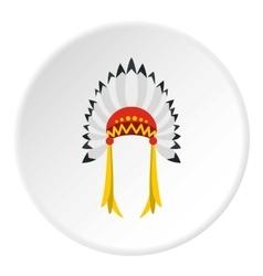 Indian headdress icon flat style vector image