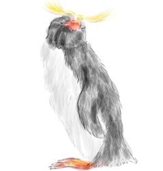 macaroni penguin vector image vector image