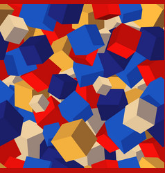 seamless pattern background with cubes vector image