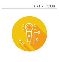 microphone line outline icon voice record vector image vector image