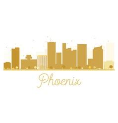 Phoenix City skyline golden silhouette vector image vector image