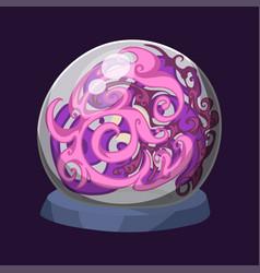 Empty globe magic ball sphere glass light vector