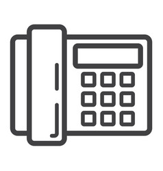 Home phone line icon household and appliance vector