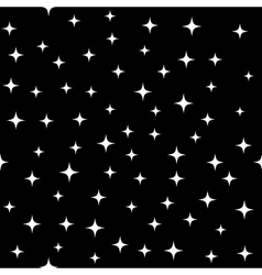 Star white seamless pattern vector image vector image