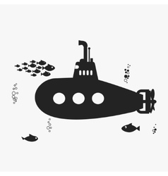 Submarine with periscope vector image