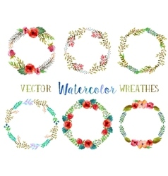 watercolor wreathes vector image