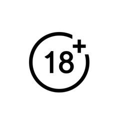 18 age limit symbol vector