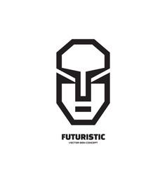 Abstract human character face - logo vector