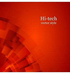 Abstract red technology background vector