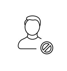 Account ban block boy man profile user icon vector