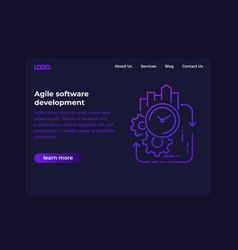 Agile software development website vector