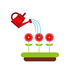 beautiful garden flat icons vector image