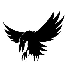black silhouette creepy or spooky halloween vector image