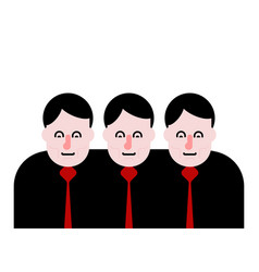 business team three people together vector image