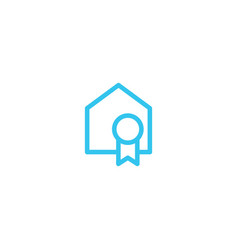 certified house home logo icon vector image