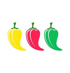 Chilli pepper icons vector