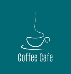 coffee cup logo on blue background vector image