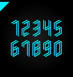 collection of the isometric sport numbers set font vector image