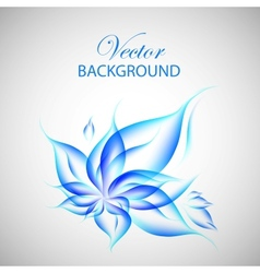 Colorful blue flower vector image