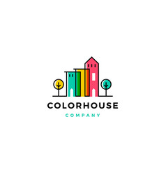 colorful house home logo vector image