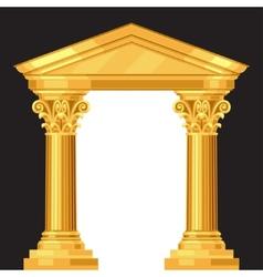 Corinthian realistic antique greek temple vector