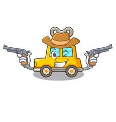 Cowboy character clockwork car for toy children vector