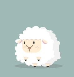 cute white little sheep vector image