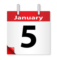 Date january 5th vector