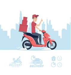 Delivery man cartoon delivery man on vector