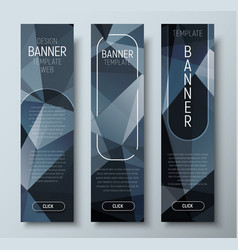 design vertical web banners with polygonal vector image