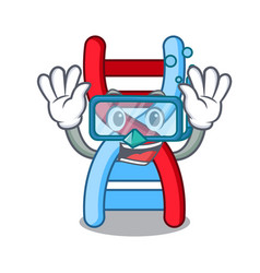 Diving dna molecule character cartoon vector