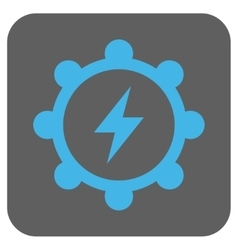Electric Energy Cogwheel Rounded Square vector