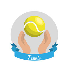 emblem tennis game icon vector image