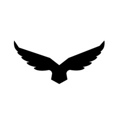falcon soaring rising wings logo design vector image