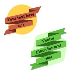 Flat 2D ribbons for text vector