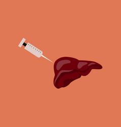 Flat icon on theme world hepatitis day syringe vector