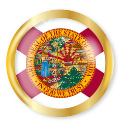 Florida flag button vector