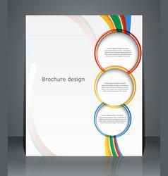 Flyer design template or a magazine cover vector