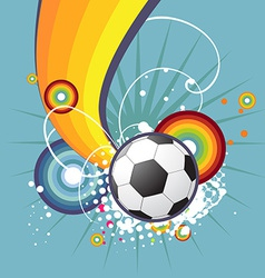 Funky football design vector image