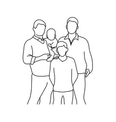 gay family with two children vector image