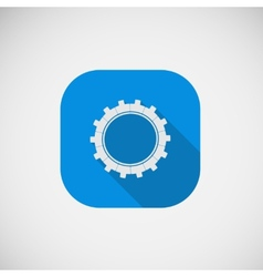 Gear flat icon eps vector